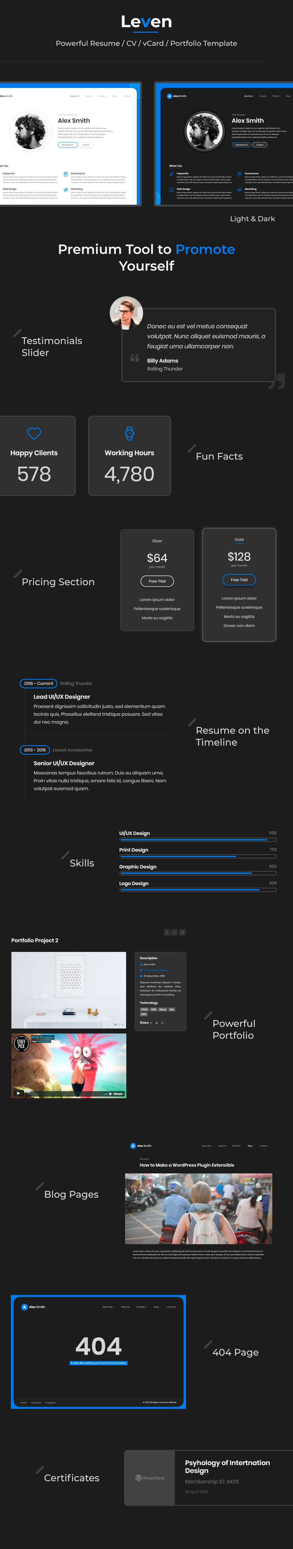Leven | CV Resume Template - 4